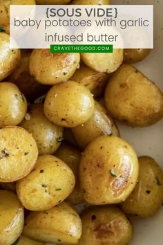 These easy sous vide potatoes are perfect for any night of the week. Vegetable Entrees, Easy Vegetable Side Dishes, Vegetable Sides, Vegetable Recipes, Butter Potatoes, Baby Potatoes, Cooking Recipes, Healthy Recipes, Healthy Lunches