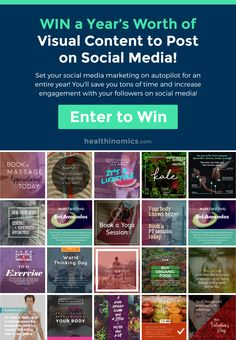 Win a Year's Worth of Visual Content to Post on Social Media!  Set your social media marketing on autopilot for an entire year! You'll save you tons of time and increase engagement with your followers on social media!