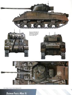 Axis Tanks and Combat Vehicles of World War II: Allied/Soviet Armour versus Tiger I and II Part II Sherman Firefly, Sherman Tank, Ww2 Tanks, Military Diorama, Battle Tank, Military Weapons, Military Equipment, Armored Vehicles, Military History