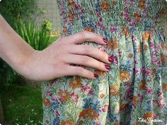 La robe d'été à smocks élastiques