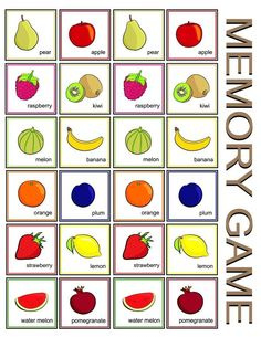 Ejercicios para potenciar la memoria en el deterioro cognitivo Fruit Clipart, Class Activities, Preschool Learning, Raspberry, Clip Art, Education, Kids, English Class, Maths