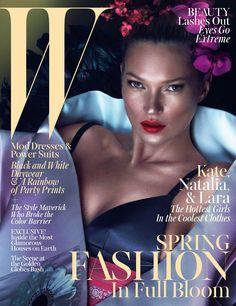 W MARCH 2013  Models: Kate Moss, Lara Stone & Natalia Vodianova  Photographers: Mert Alas & Marcus Piggott  Stylist: Edward Enninful