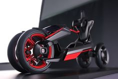 audi nexus - Melding the designs of both a motorcycle and a car, the Audi Nexus brings urban mobility to the next level. The concept design by Audi Design Conc. Tricycle Bike, Concept Motorcycles, Trike Motorcycles, Power Cars, Yanko Design, Bike Design, Scooter Design, Electric Cars, Electric Vehicle