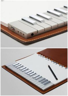Good for the traveling musical idea haver! Keys on the go | Yamaha Keyboard Notebook.. pretty darned cool I NEED THIS!!!!