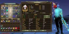 Robusk é um char do game Perfect World MMORPG (PW) - Guardião - Arcano. A imagem apresenta os equipamentos de fama R8 e a Build formada.