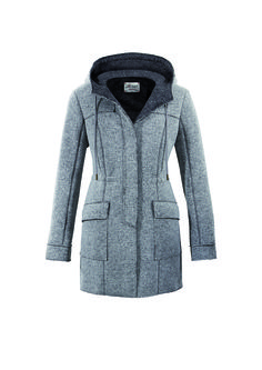 #FridaysFavourite | Lovely Jersey parka in all-time classic grey #bugattifashion #womenswear #parka