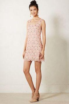 Scalloped shift dress - pretty little party dress