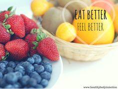 Eat better, feel better