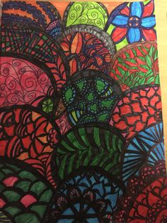 Markers and flowers