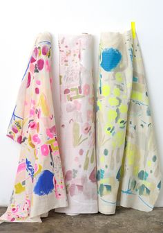 Japanese Fabrics – nani IRO 2014 – Japanese Sewing, Pattern, Craft Books and Fabrics Textile Prints, Textile Patterns, Print Patterns, Joan Mitchell, Fabric Design, Print Design, Japanese Sewing Patterns, Hand Painted Fabric, Japanese Fabric