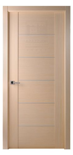 Maximum 201 Interior Door In A Bleached Oak Finish With 5 Aluminum Strips
