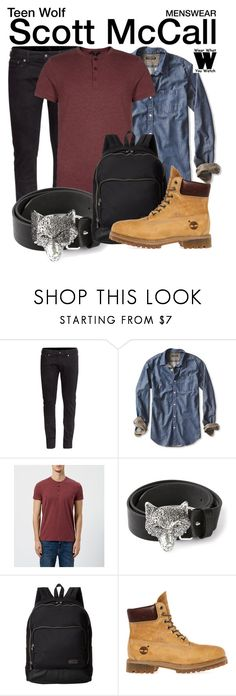 """Teen Wolf"" by wearwhatyouwatch ❤ liked on Polyvore featuring H&M, Banana Republic, Diesel, Marc by Marc Jacobs, Timberland, television, wearwhatyouwatch and menswear"