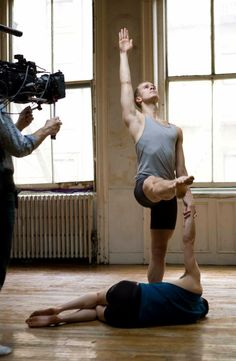 """Five Dances"" choreographed by Jonah Bokaer, directed by Alan Brown, with cinematography by Derek Kane. Dancers Ryan Steele and Reed Laplau rehearse for camera."