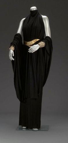 Valentina dress - 1930's - Black silk jersey overdress and floor-length skirt - Museum of Fine Arts Boston - @~ Mlle