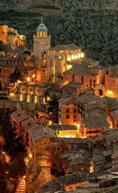 Nocturno Albarracin (Teruel).