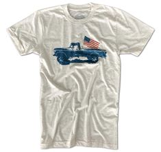 23b82f5b0d4 Men s Classic American Flag Truck Tri-Blend T-Shirt (Heather Oatmeal). Old  GloryOatmealAmerican ...