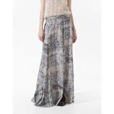 zara maxi skirt snake print - Google Search