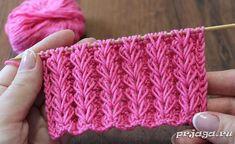 "Knitting pattern ""Spikelets of elongated loops"" video Lace Knitting Patterns, Knitting Charts, Knitting Stitches, Free Knitting, Baby Knitting, Stitch Patterns, Knitting Needles, Tunisian Crochet, Knit Crochet"