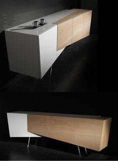 CONTEMPORARY SIDEBOARD| modern shape Alliance Sideboard by Erwan Péron | bocadolobo.com/ #modernsideboard #sideboardideas