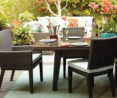 Our Palermo Dining Collection offers generous proportions for ultra-comfortable outdoor dining.