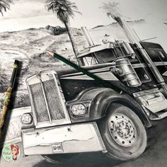 Truck Art, Motorcycle, Trucks, Vehicles, Biking, Motorcycles, Truck, Motorbikes, Engine