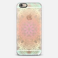 Vintage Fancy - Tropical Pastels on Transparent - New Standard Case