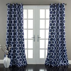 Lush Decor Chainlink 84-Inch Room Darkening Curtain Panel Pair - Overstock Shopping - Great Deals on Lush Decor Curtains