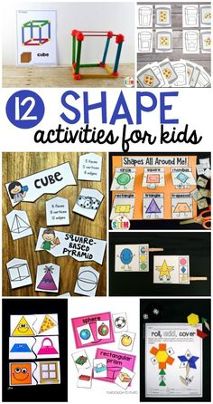 These shape games are going to be great for my math centers. They are awesome math station for kindergarten or first grade. Shape Games For Kids, 2d Shape Games, Shapes For Kids, Kindergarten Activities, Activities For Kids, Shape Activities, Preschool Ideas, Learning Shapes, Learning Tools