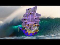 Кораблик из конфет. Ship of chocolates. Поделки из конфет и гофрированной бумаги своими руками. - YouTube