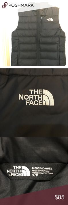 Men's small, North Face puffer puffy vest. NWT. Black Northface Vest. New, without Tags, pockets, small stitched logo on front and back. Zip up. North Face Jackets & Coats Vests
