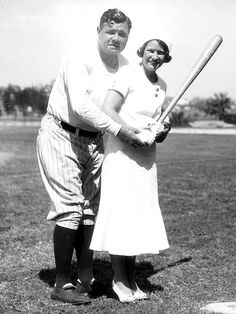 Babe and Claire Ruth 1931 -- Babe Ruth and his wife Claire pose in St. Petersburgh, Fla.