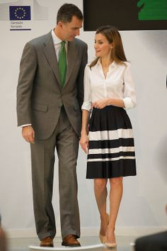 Crown Prince Felipe and Crown Princess Letizia of Spain attend the Delivery of the European Business Awards for the Environment Business 2013/2014 in Madrid, Spain