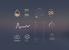 Managing Dashboard - is puur voor grafisch design gekozen Flat Design, Interaktives Design, Gui Interface, User Interface Design, Design Thinking, Mobile Ui Design, Ui Design Inspiration, Information Design, Ui Web