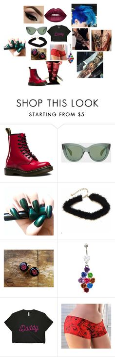 """""""Untitled #78"""" by weirdgay ❤ liked on Polyvore featuring Dr. Martens, Paul Smith and Lime Crime"""