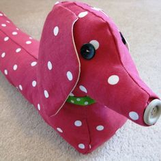 Free Sewing Pattern For A Dog Draught Excluder
