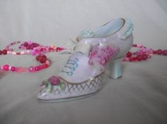 Vintage Porcelain Shoe Miniature by augiesvintagefinds on Etsy, $14.00