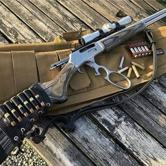 """Just like my old school """"knuckle buster"""". Weapons Guns, Guns And Ammo, Armas Ninja, Lever Action Rifles, Fire Powers, Hunting Rifles, Cool Guns, Firearms, Shotguns"""