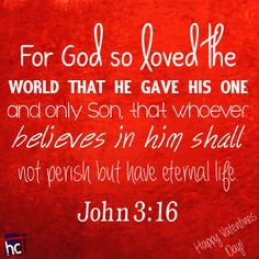 Bible verse ~ John 3:16