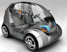 Citroen EGGO - The Citroen EGGO is a conceptual car designed by Damnjan Mitic that unfortunately looks nothing like an Eggo waffle. What the Citroen EGGO does res...