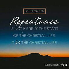John calvin, repent, christian