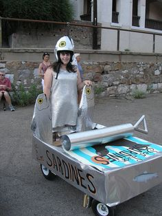 Cutest art coaster ever - Melissa Holden's sardine can car for the BRATS soap box derby.