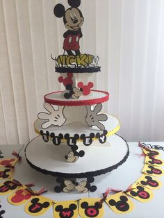 Hey, I found this really awesome Etsy listing at https://www.etsy.com/listing/200153708/mickey-mouse-cupcake-stand-and-party