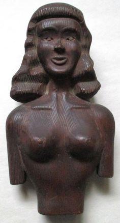 Antique Erotic Folk Art Carving c. 1930 Collection Jim Linderman Dull Tool Dim Bulb  http://dulltooldimbulb.blogspot.com/2016/12/antique-erotic-folk-art-sculpture.html