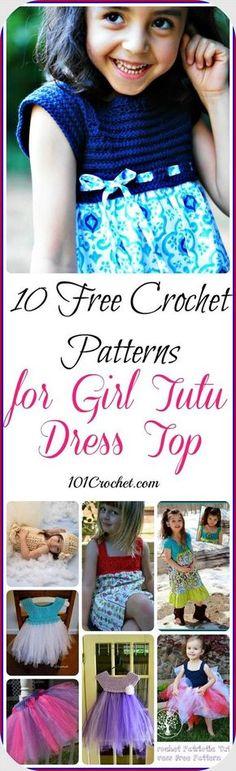 10 Free Crochet Patterns for Girl Tutu Dress Top | 101 Crochet