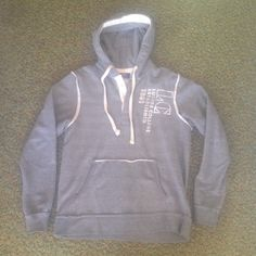 Luther College Sweatshirt Cute grey Luther College Hoodie with half button up. MV Sport Sweaters