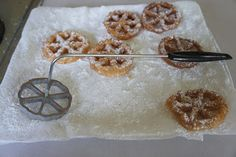 The Modern Housewife: Sugar Waffles-AKA Rosette Cookies Rosettes Cookie Recipe, Rosette Cookies, Waffle Recipes, Cookie Recipes, Sugar Waffles Recipe, French Waffle, Carnival Food, Shortbread Cookies, Holiday Treats