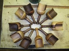 Turned Kitchen Scoops