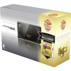 Nintendo 3DS - Limited Edition with The Legend of Zelda Ocarina of Time 3D (Video Game)   Owned :D