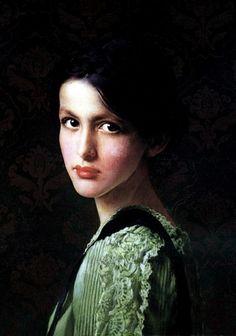Volto di donna (c.1900). Vittorio Matteo Corcos (Italian, 1859–1933). Oil on canvas.