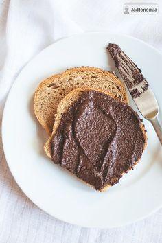 homemade nutella by jadłonomia Vegan Vegetarian, Vegetarian Recipes, Vegan Food, Nutella, Polish Recipes, Polish Food, Vegan Cheese, Vegan Desserts, Pesto